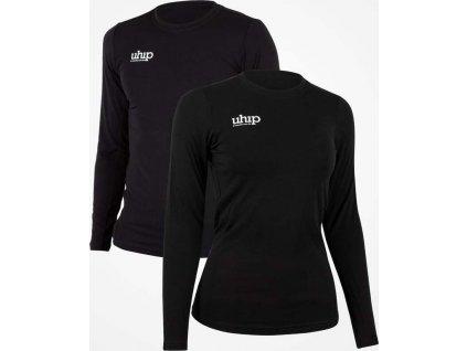 Tričko bambusové s dlouhým rukávem UHIP, unisex, černé