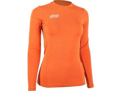 Tričko bambusové s dlouhým rukávem UHIP, dámské, orange rust