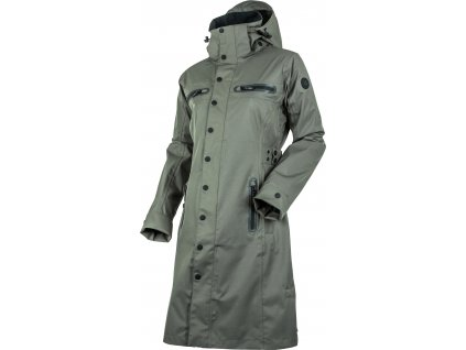 Kabát nepromokavý Mid Trench UHIP, dámský, gunmetal green