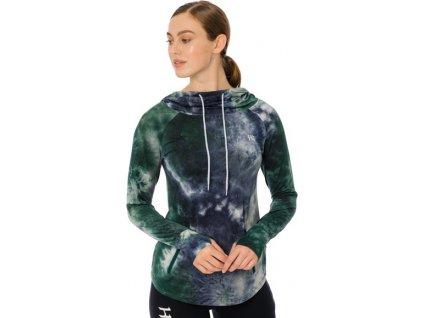 Mikina sportovní Horseware, dámská, green/navy tie dyed