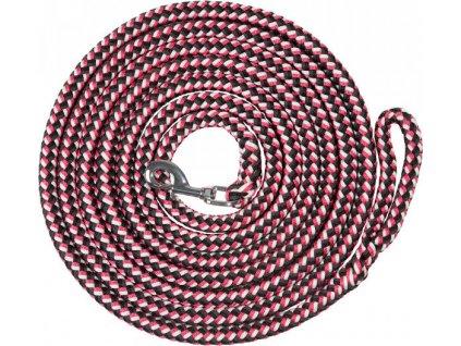 Lonž PFIFF, 5m/8m, black/pink