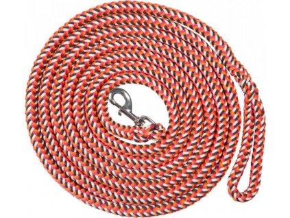 Lonž PFIFF, 5m/8m, orange/white