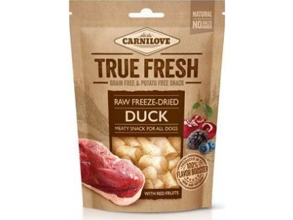 Pochoutka pro psy Raw freeze-dried Duck with red fruits Carnilove, 40g