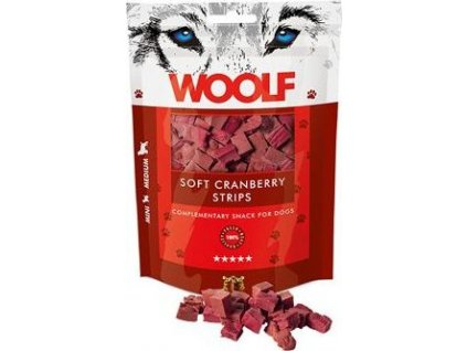 Pochoutka pro psy soft cranberry WOOLF, 100g