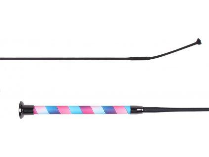 Bič drezurní Ombre QHP, pink/blue