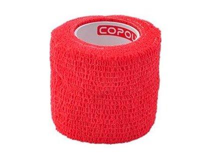 Bandáž samolepicí CoPoly 5cmx4,6m, red, 1ks