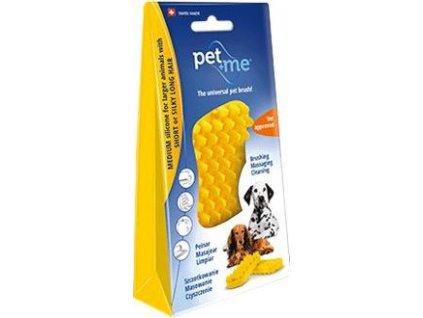 Kartáč na krátkou srst pro psy PET and ME, yellow