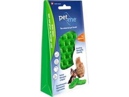 Kartáč na dlouhou srst pro kočky PET and ME, green