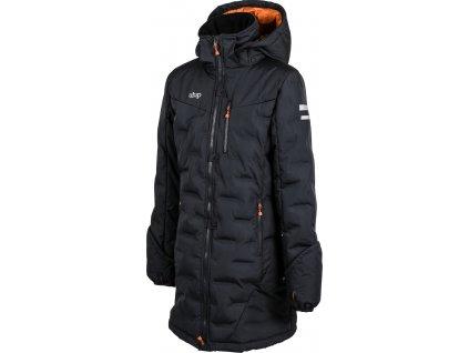 Kabát zimní jezdecký Ice UHIP, dívčí, blue graphite grey/orange