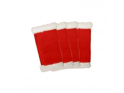 Bandáže vánoční 4ks Umbria Equitazione, red/white