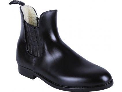 Boty pérka zimní gumové QHP, černé