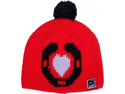 Čepice pletená Beanie QHP, red