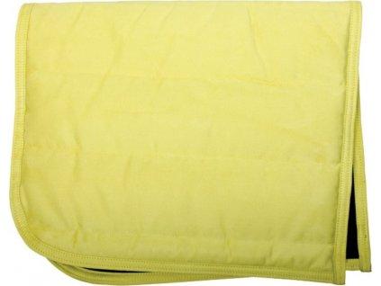 Dečka podsedlová PUFF PAD QHP, yellow