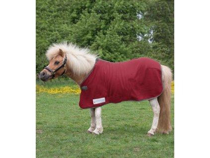 Deka odpocovací fleece Economic Waldhausen, rust red