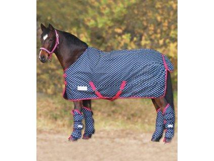Deka výběhová fleece Unicorn Waldhausen, blue