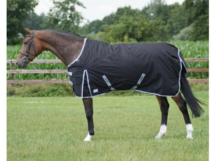 Deka výběhová nepromokavá fleece 600 D QHP, černá