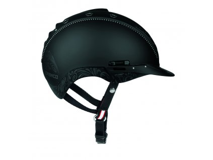 Casco Mistrall2 Black Floral Side 4041