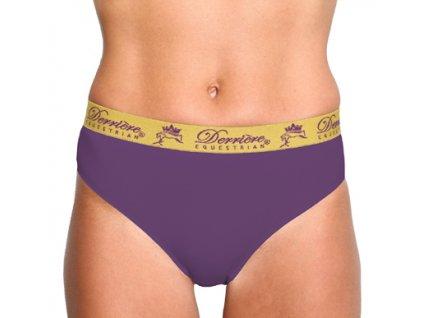 Kalhotky bezešvé klasické Derriere, dámské, fialové