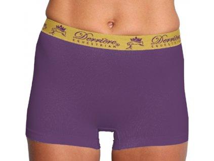 Kalhotky bezešvé nohavičkové Derriere, dámské, fialové