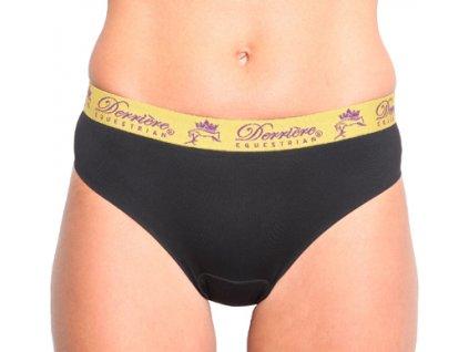 Kalhotky polstrované klasické Derriere, dámské, černé