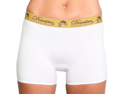 Kalhotky polstrované nohavičkové Derriere, dámské, bílé