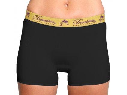 Kalhotky polstrované nohavičkové Derriere, dámské, černé