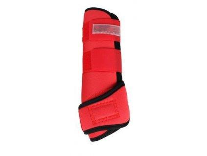 Kamaše kloubové prodyšné Neoprene Air QHP, červené (Velikost L (výška 32 cm))