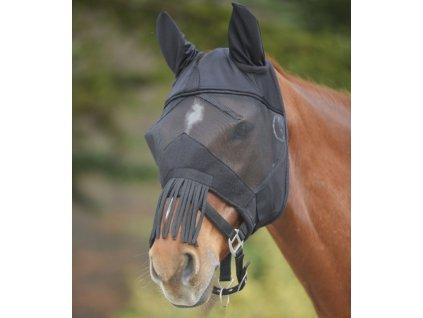 Maska proti hmyzu s třásněmi Waldhausen, černá