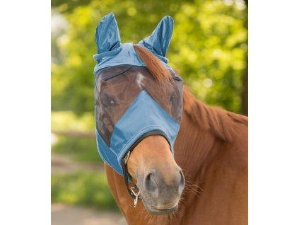 Maska proti hmyzu s ochranou uší Premium Waldhausen, powder blue