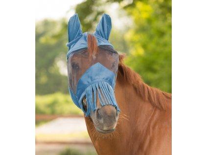 Maska proti hmyzu s třásněmi Waldhausen, powder blue