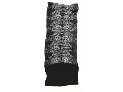 Multifunkční šátek s fleecem MATT,  black/grey