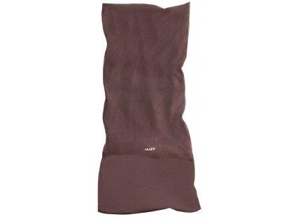 Multifunkční zimní šátek s fleecem MATT, unisex, hnědý