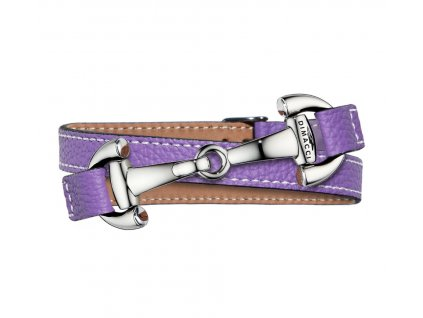 Náramek ALBA DIMACCI, purple/stříbrný