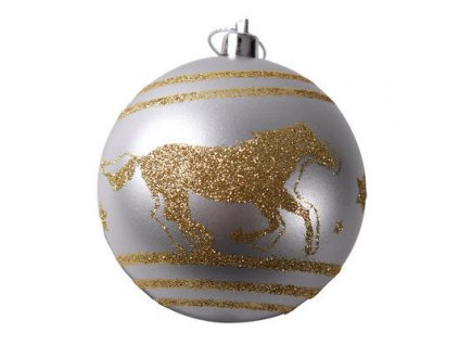 Ozdoby na vánoční stromeček 6ks, stříbrná/zlatá