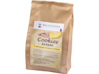 Pamlsky pro koně Cookies Waldhausen, 1kg, banánové