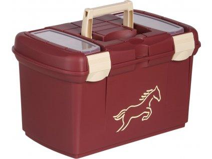 Pevný box na čištění USG burgundy/creme s koníkem