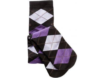 Podkolenky Caro USG, one size, black/lavender/lilac