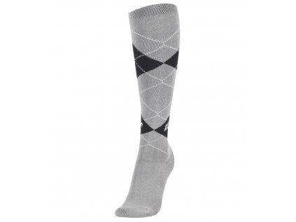 Podkolenky Karo ELT, ash grey/black (Barva aschgrau/schwarz, Velikost 31-34)