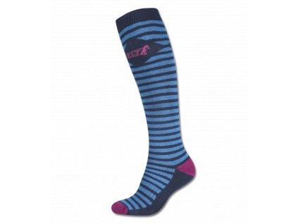 Podkolenky Stripes ELT, tmavě modré/azurově modré/fialové