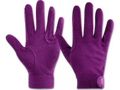 Rukavice jezdecké Picot ELT, violet