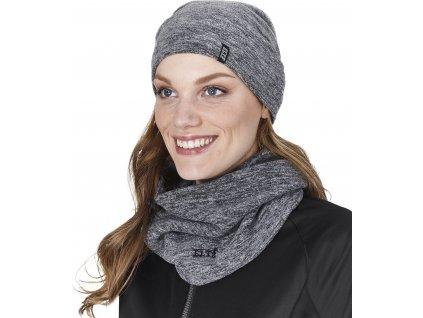 Set čepice a šátek Jura ELT, ash grey (Barva aschgrau)