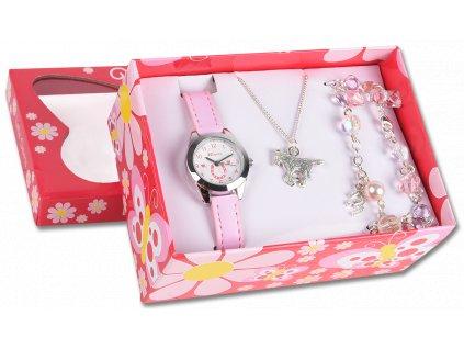 Set hodinky, náramek a náhrdelník