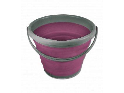 Skládací kýbl 10 l, magenta (Barva magenta)