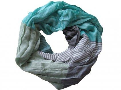 Šátek USG, stripes turquoise