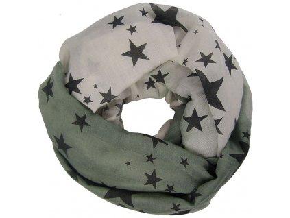 Šátek USG, vintage stars khaki
