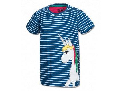 Tričko Bibbi Unicorn ELT, oceánově modrá