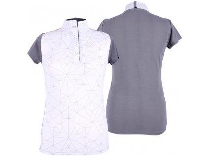 Tričko závodní Lexi QHP, dámské, šedé