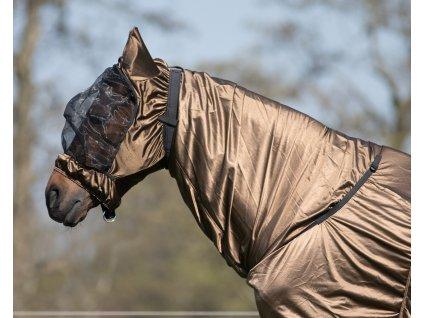 Maska proti hmyzu s ochranou uší QHP, brown