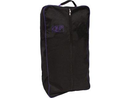 Taška na uzdečku QHP, black/purple