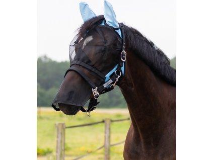 Maska proti hmyzu s ochranou uší a nozder QHP, bright blue